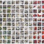 1861-2011- tecnica mista su tela 150 tele 24 x 24