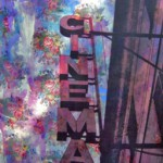 CINEMA - 200 X 140 su tessuto floreale