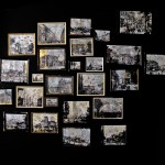 Quadreria - 250 x 250 vecchie cornici tecnica mista cartone telato