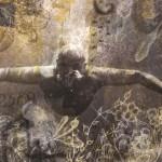 Abissi - 200 x 100 tecnica mista su iuta