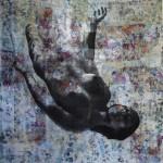 Medea - 143 x 90 tela150 x 150 tecnica mista su iuta
