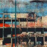 Palazzo sventrato - 200 x 100 tela